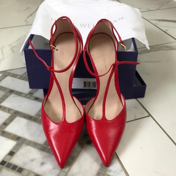 59edd9a7a8 Stuart Weitzman Shoes | Stunning Amity True Red Tstraps | Poshmark